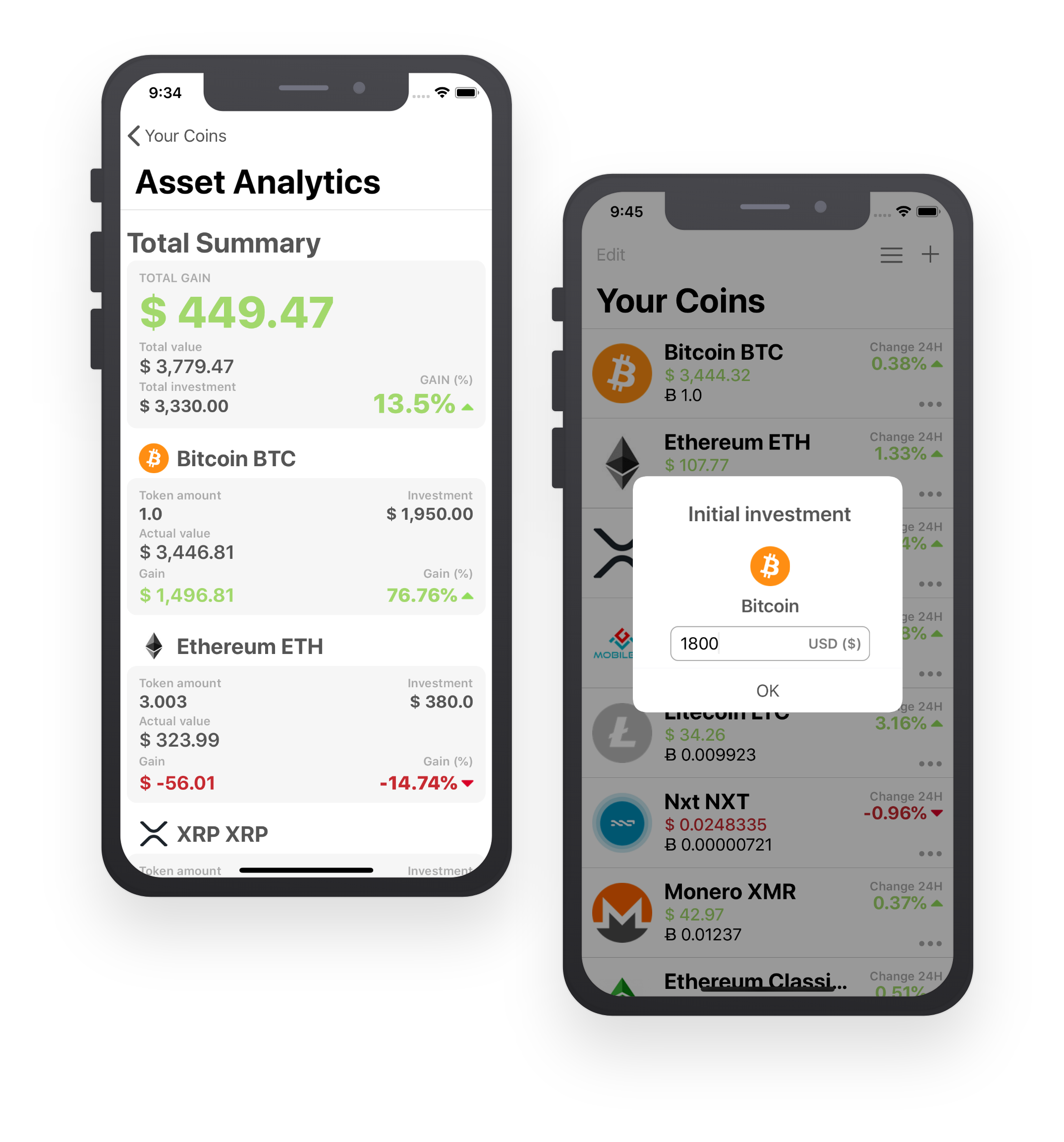 Track your investment